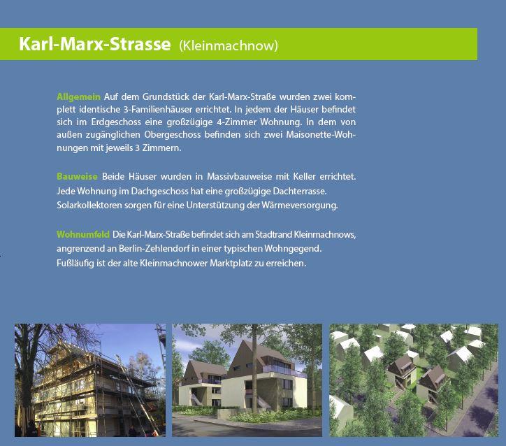 Fertigstellung Bauvorhaben Karl Marx Straße in Kleinmachnow